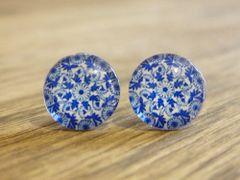 Art Glass No. 54 - stud earrings