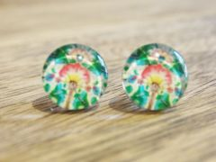 Art Glass No. 39 - stud earrings