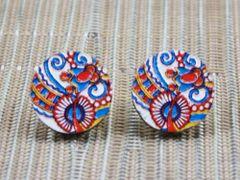Barcelona wood stud earrings