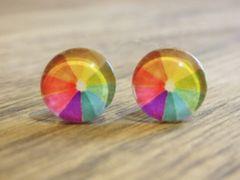 Art Glass No. 7 - stud earrings