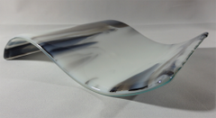 Smokey glass rectangular glass wave