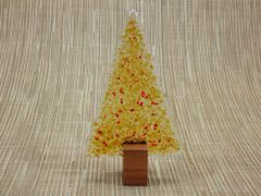 Christmas tree No. 22 (handmade glass/Jarrah)