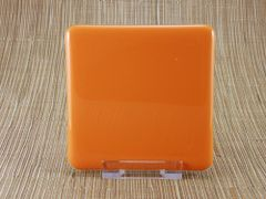 Orange glass coaster