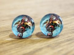Art Glass No. 44 - stud earrings