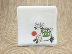 Rudolph white glass curved plate