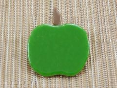 Apple handmade glass brooch