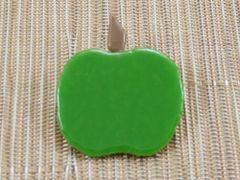 Apple handmade glass brooch