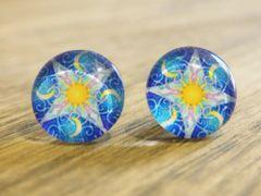 Art Glass No. 58 - stud earrings
