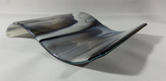 Smokey glass/black rectangular wave
