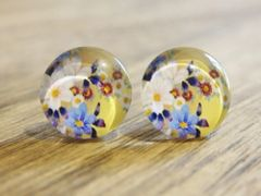 Art Glass No. 13 - stud earrings