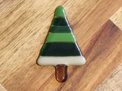 Christmas tree No. 10 - glass fridge magnet
