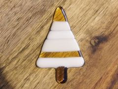 Christmas tree No. 12 - glass fridge magnet