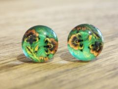 Art Glass No. 32 - stud earrings