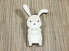 Rabbit - cute bunny wood brooch