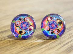 Art Glass No. 11 - stud earrings