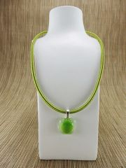 Green and clear glass pendant