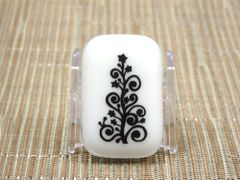 Christmas tree cream glass fridge magnet