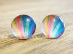 Art Glass No. 15 - stud earrings