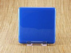 Blue glass coaster