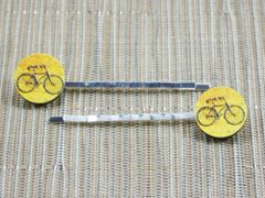 Vintage bicycle wood bobby pins