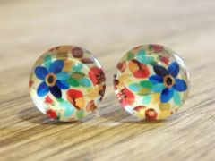 Art Glass No. 30 - stud earrings