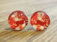 Art Glass No. 24 - stud earrings