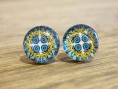 Art Glass No. 37 - stud earrings