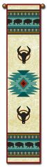 """Tapestry - """"Bison - Native American"""" - Bell Pull, 8.5x40"""