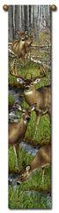 "Tapestry - ""Deer - Harem"" - Hanging Bell Pull, 8.5x40"