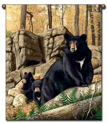 "Tapestry - ""Bears - Den Mother"" - Large Wall Hanging, 27x36"