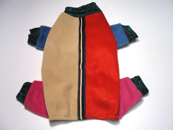Snakeskin Colorblock Fleece Jammies - Roomy Medium