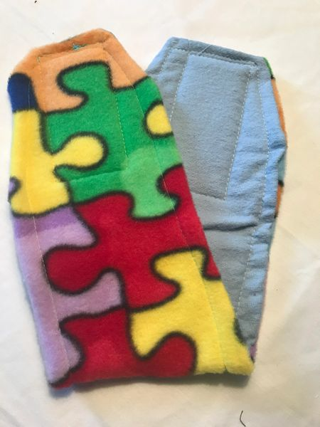 Rainbow Puzzle Piece Belly Bands for Male Dogs - Small