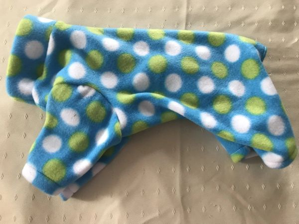 Turquoise and Dots Fleece Pet Jammie - Standard Sizes XS, XL