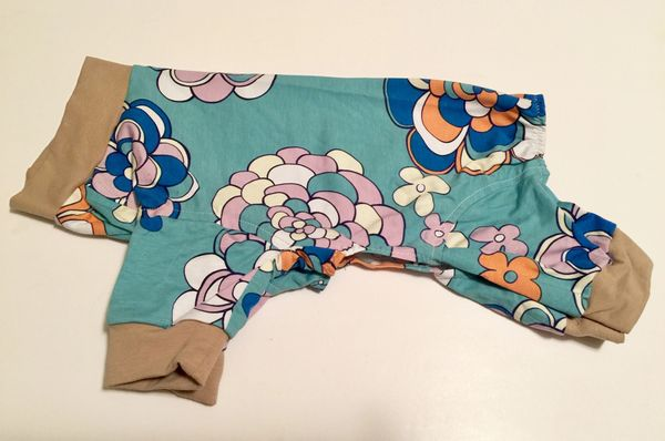 Sky Blue Floral Pet Tee Jammies - Roomy Fit Assorted Sizes