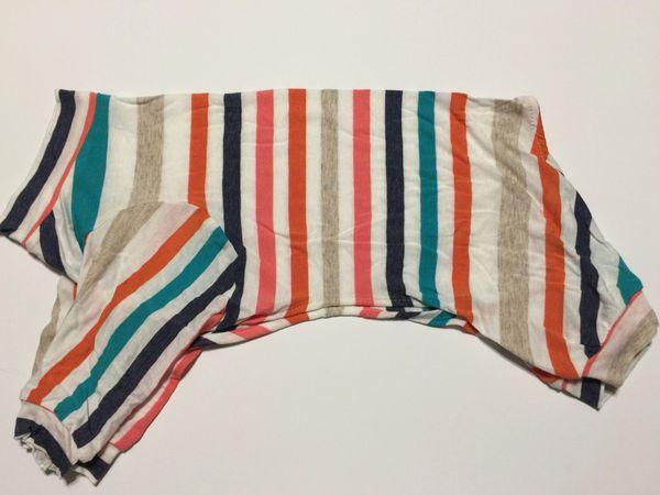 Variegated Stripes Pet Tee Jammie - Standard Small