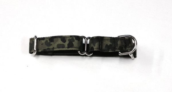 Adjustable Martingale Collar - Green Camo - Small