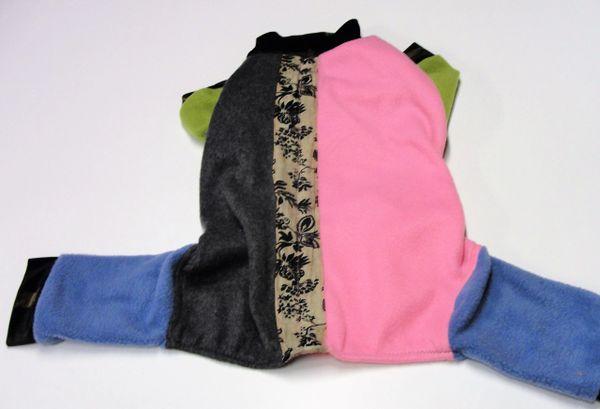 Pink and Grey Medley Fleece Pet Jammies - Roomy Assorted Sizes