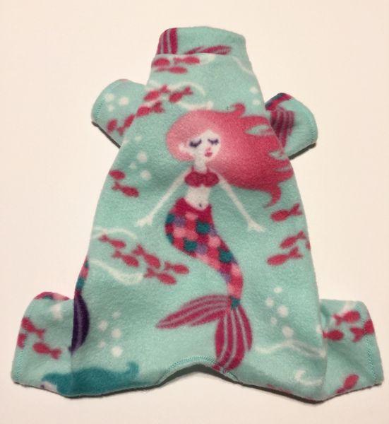 Pretty Mermaid Fleece Pet Jammie - Extra Small