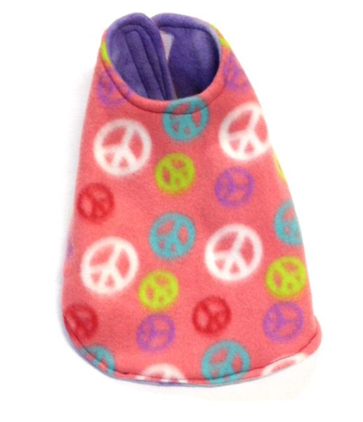 Peace Signs and Purple Reversible Pet Coat - Extra Small