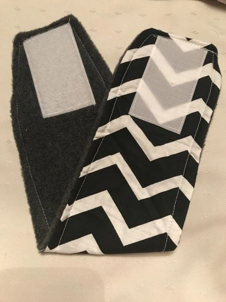 Chevron & Gray Belly Bands for Male Dogs - Small