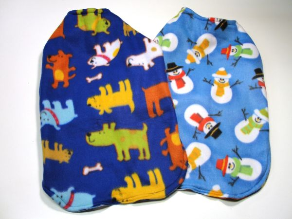 Dogs and Snowmen Reversible Pet Coat - Large - X Large