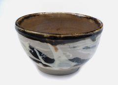 teabowl, stoneware, brown im