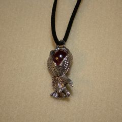 """20"""" Pewter Eagle Necklace with Suede Cord"""