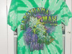 Marijuana Max Wild Zombie tye dye green T-shirt