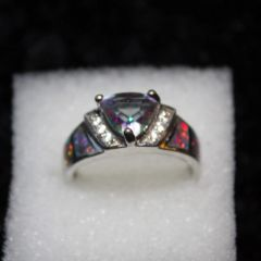 Ring - Mystic Topaz and Yellow/Red Opal