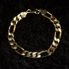 Mens 18k Gold Filled Fiagaro Link Bracelet