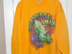 Marijuana Max Wild Zombie Solid Yellow Sweatshirt