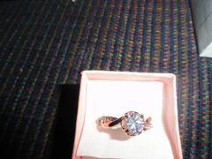18 k Gold plated Z Sircon Crystal Diamond ring