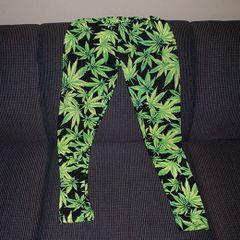 Marijuana Leaf Womens Leggings