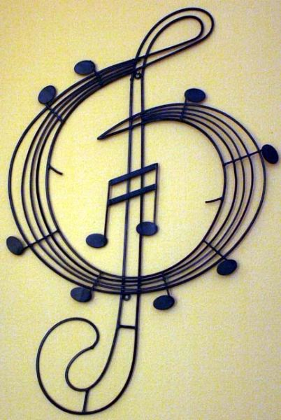 Treble Clef Metal Wall Art | Minks Emporium Skeleton Key Replacement ...